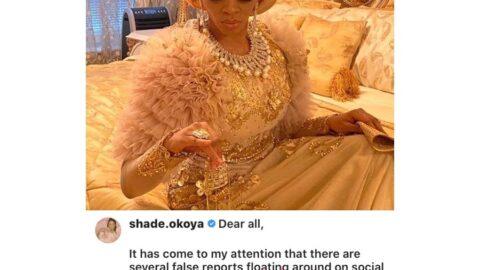 COVID-19: I And My Family Are Well, Says Shade Okoya