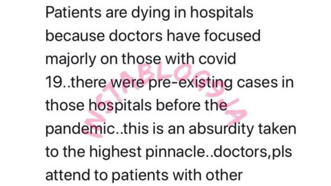 Patients are dying in hospitals because doctors have focused majorly on those with COVID-19 – Apostle Suleiman