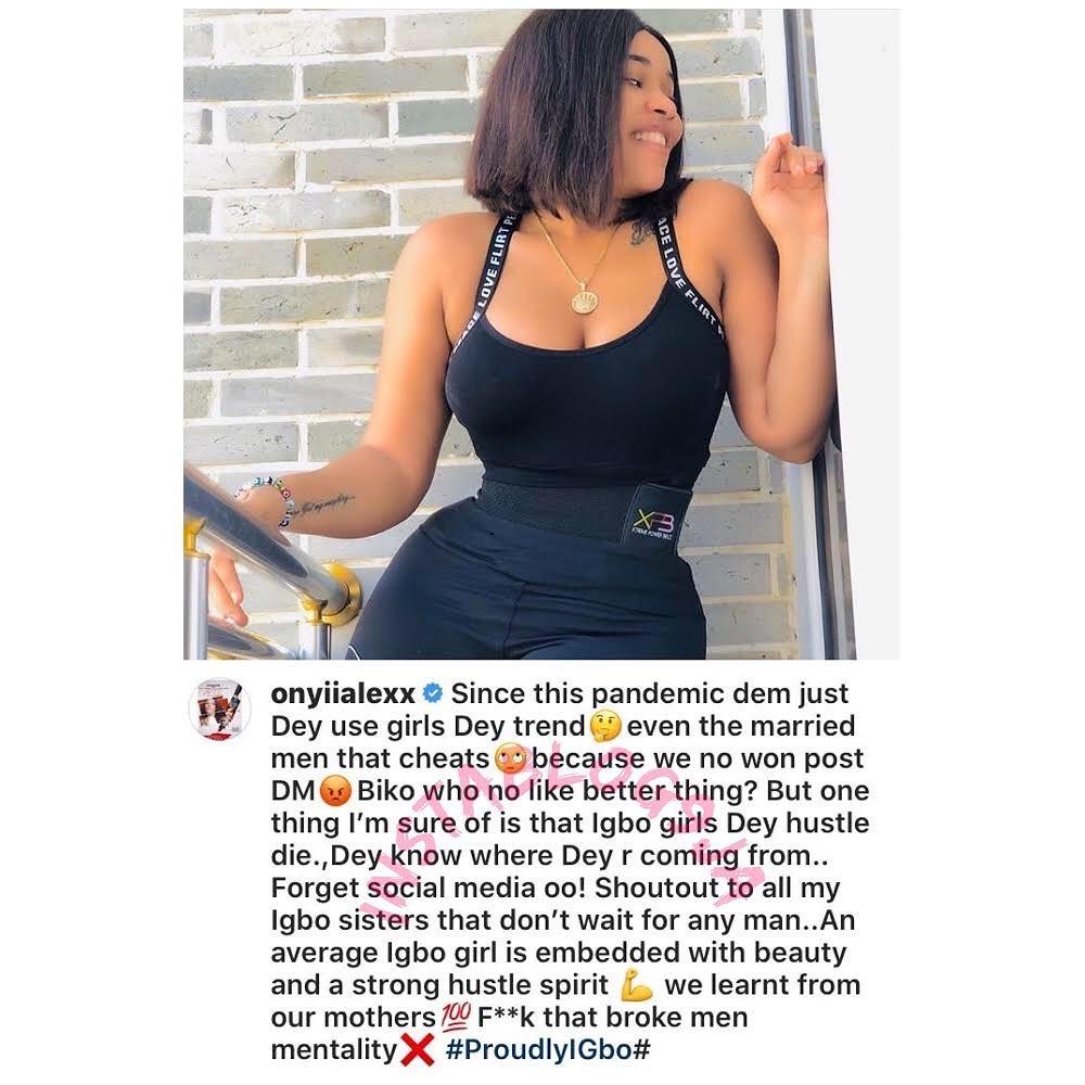"""F*ck your broke man mentality. Igbo girls Dey hustle die,"" Actress Onyii Alex tells Comedian Funnybone. [Swipe]"