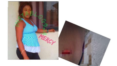 Graphic: Lady on the run after stabbing her coworker in her sleep