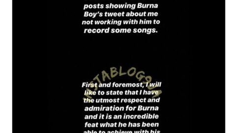 """Burna's threat: Singer CeezaMilli insists he wrote """"On the low"""" for him, but his label boss has also now joined Burnaboy to say he is a liar. [Swipe]"""