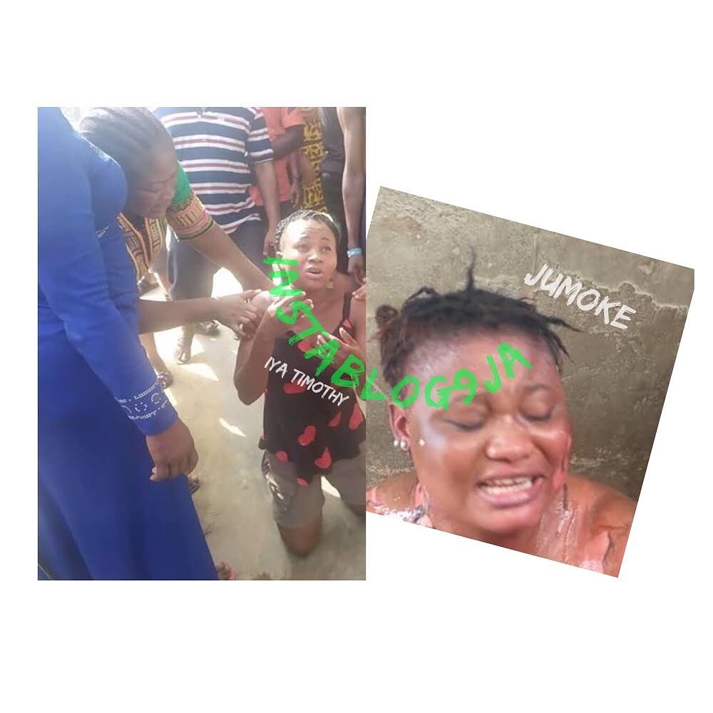 Graphic: Lady arrested forpouring hot water on her neighbor