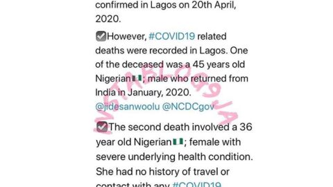 Lagos records fresh COVID-19 deaths