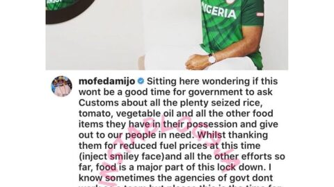 """""""Give out seized food items,"""" actor RMD tells the Nigerian Customs"""