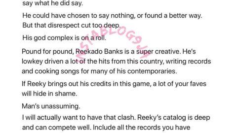 Burnaboy has a god complex. He's cruel to Reekado Banks – Entertainment Journalist Joey Akan. [Swipe]