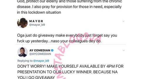 AyComedian clashes with marketer Uche