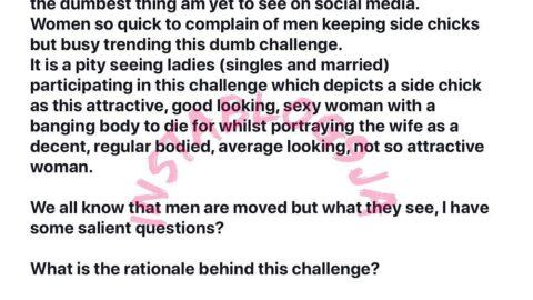 The #WifeyVsSideChick challenge is the dumbest trend on social media – Engineer Chinwuba
