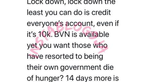 Lockdown: Even if it's N10k, credit everyone's account, Toke Makinwa tells FG
