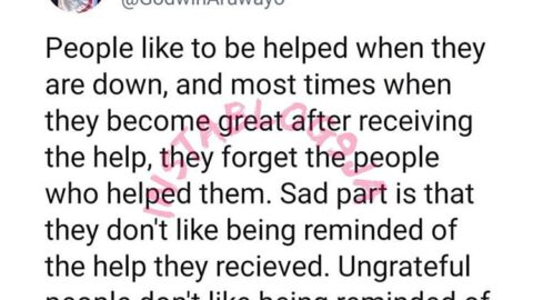Ungrateful people don't like being reminded of the help they received in the past – OAP Aruwayo
