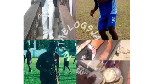 """Promising footballer on vigilante duty, killed by Estate Chairman . . James Olu, the Chairman of the Victory Estate, Iba, Lagos State, has been arrested for allegedly shooting dead a 23-year-old decorated footballer and resident of the estate, Stephen Benson Doubra. . . The incident happened on Saturday, April 18, 2020, while the chairman and other residents -including the deceased – were securing the estate against hoodlums suspected to be members of the dreaded """"one million boys."""" . . It was alleged that James and Stephen had a face off days earlier and they had an altercation again on Saturday. The chairman was said to have later pulled out a gun and shot the footballer in the chest. . . The suspect then fled with the victim on a motorcycle, but was later arrested by policemen from the Adoff Police Station. The state Police Public Relations Officer, Bala Elkana, confirmed his arrest and investigation of the incident. [Swipe]"""