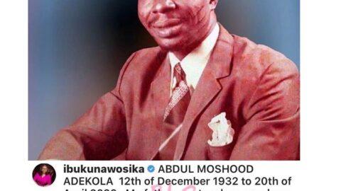 Businesswoman Ibukun Awosika loses dad [Swipe]