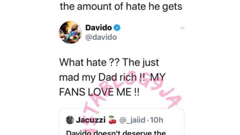 People hate me because my dad is rich – Davido