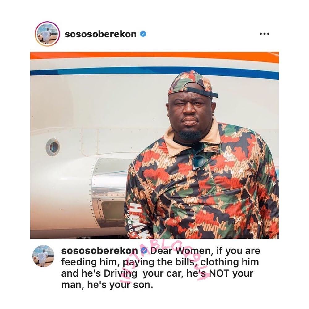 Music Executive Soberekon corrects an age-long misconception by ladies