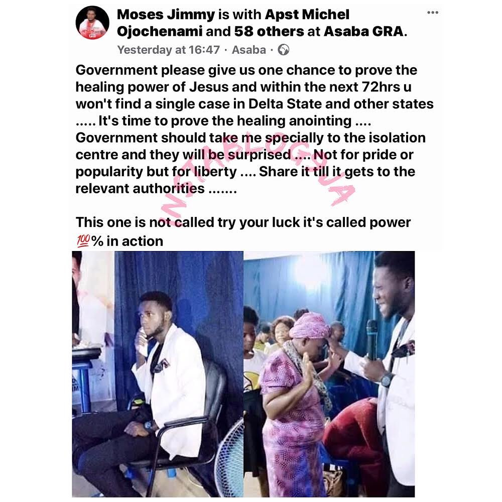 """Prophet Moses aka """"The Deadly Prophet"""" profusely begs Gov. Okowa to allow him heal all COVID-19 patients in Delta State"""