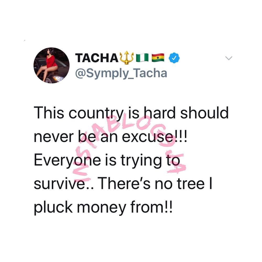 This country is hard should never be an excuse - Tacha