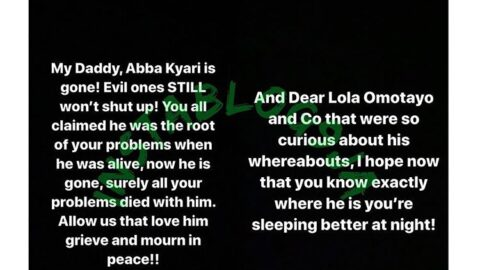 Late Abba Kyari's daughter lambasts those who blamed him for Nigeria's problems