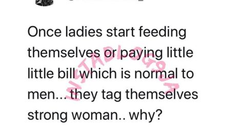 """Youtuber Kalu wonders why ladies start calling themselves """"strong"""" once they start paying bills and feeding themselves"""