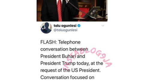 Coronavirus: Trump Calls Buhari