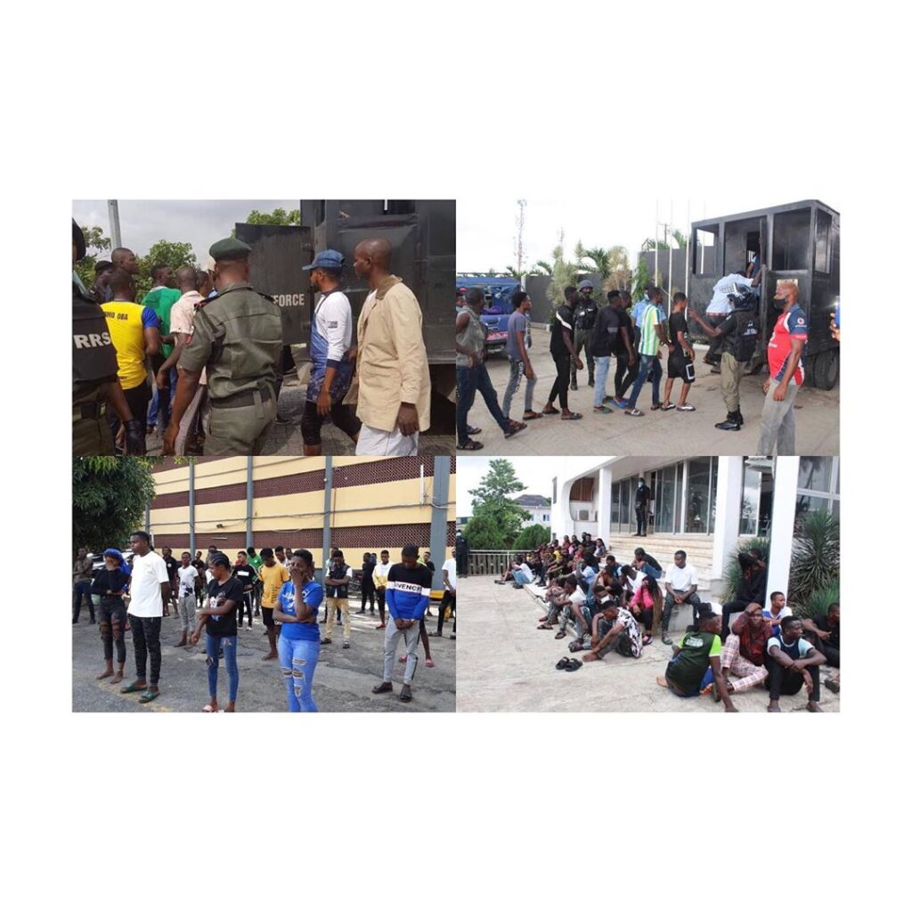 60 arrested in Lagos for holding lockdown party .