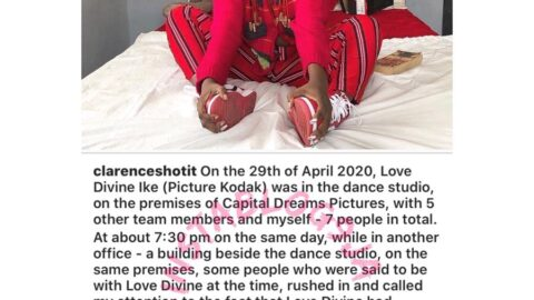 5 days after dancer Kodak's death in his studio, Clarence Peters finds his voice. [Swipe]