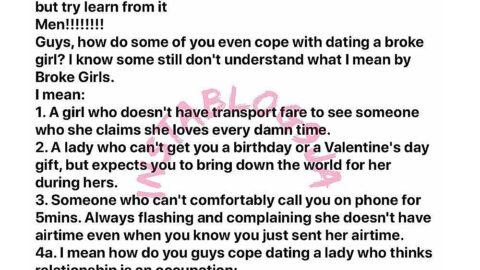 Stop dating mentally broke girls – Man [Swipe]