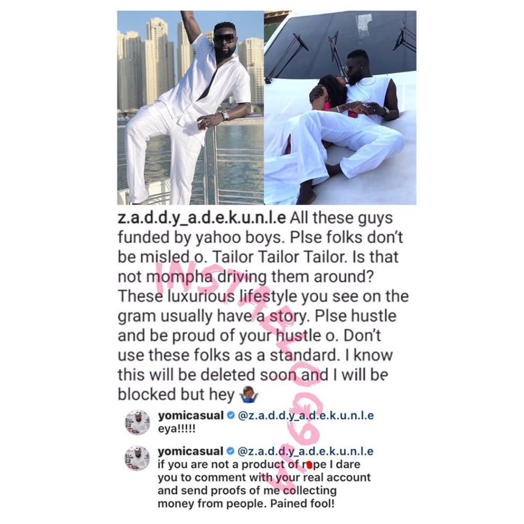 Tailor Yomi Makun dares a follower who accused him of being funded by fraudsters