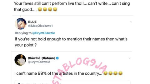 99% of Nigerian artistes can't perform live, write, sing – Singer Brymo