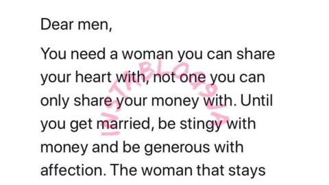 Men, until you get married, be stingy with money and generous with affection – Reno Omokri