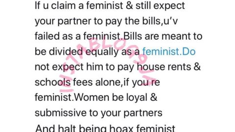 You've failed as a feminist if your partner still pays the bills alone – Lady