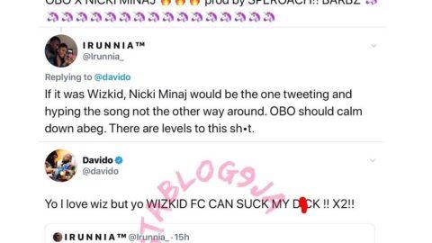 Davido slams Wizkid's Fans