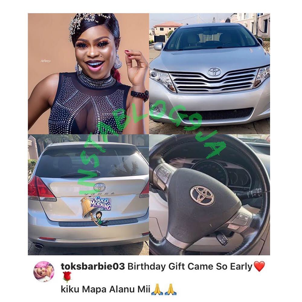 Nollywood actress Rasheedah Jolaosho receives a car gift from her destiny helper