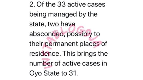 COVID-19: Two patients flee from Oyo State isolation centre
