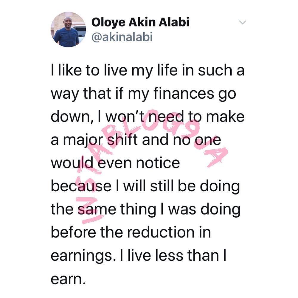 Why I live below my means - Hon. Akin Alabi
