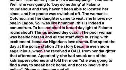Pregnant 19-yr-old girl hatches a fake kidnap in order to buy time to sell off her baby for N300k [Swipe]