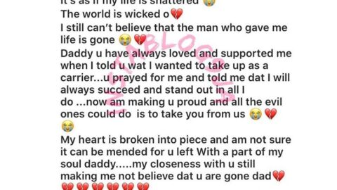"""""""The world is wicked. My life is shattered,"""" actress Destiny Etiko laments the death of her dad [Swipe]"""