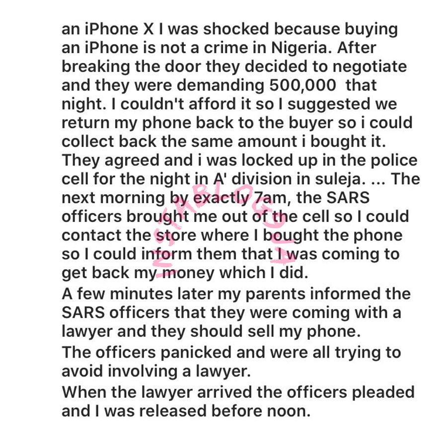 How Niger State police officers assaulted me at 2a.m for using an Iphone in Suleja - Man [Swipe]