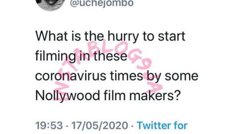 Covid-19: Actress Uche Jombo questions her colleagues decision to resume filming