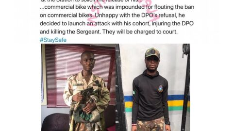 Fake soldiers beat a policeman to death in Lagos