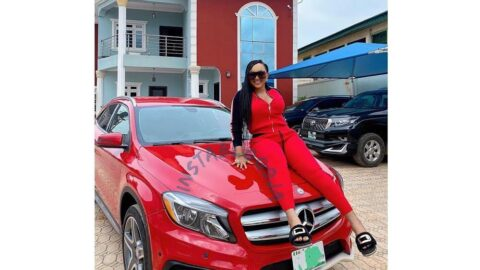 Nigerians win again as actress Mercy Aigbe finally listens to their countless appeals for her to join the Benz Gang