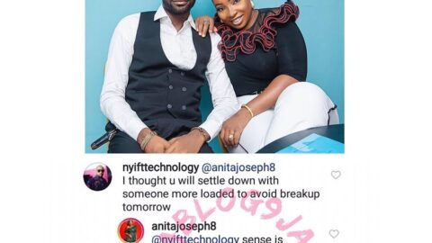 Quoting Proverbs 18:2(English Standard Version), actress Anita Joseph retires a troll who said she should have married someone richer than her husband