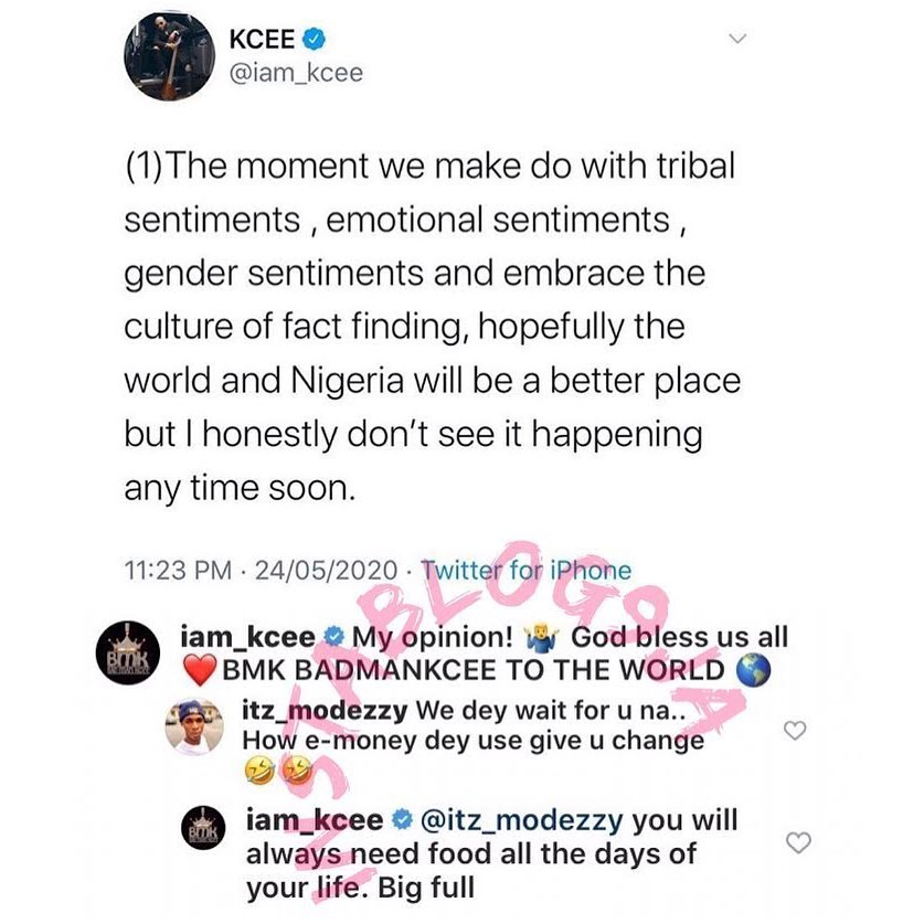 Record Label Drama: For singer Kcee, it's a potent curse on the head of an expectant troll