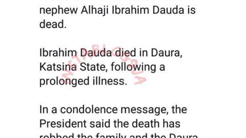 President Buhari loses another nephew