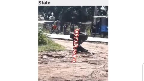 For getting to work late, apprentice ordered to kneel under the sun and carry a tyre in Delta State