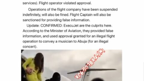 FG suspends Execujet indefinitely for flying Naira Marley and Kim Oprah to Abuja for a concert after allegedly lying. [Swipe]