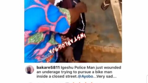 Lady left with a fractured skull by a policeman chasing a motorcyclist in Ayobo, Lagos