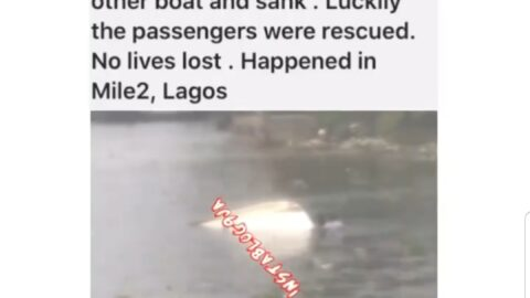 No lives lost as two boats collide this morning in Mile 2 , Lagos