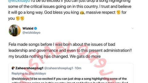 We have to do more than make music if we want things to change — Wizkid