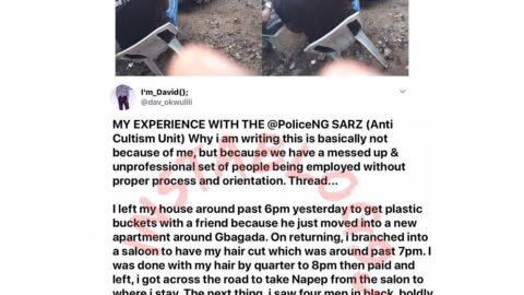 How I was unjustly arrested and extorted by SARS officers in Gbagada, Lagos — Software Developer. [Swipe]