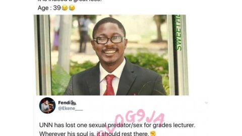 UNN graduates tweet about their late lecturer. [Swipe]