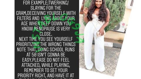 """""""Doing school runs at 50 won't be easy,"""" actress Edem tells ladies with wrong priorities"""